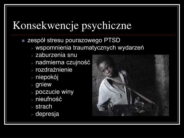 Konsekwencje psychiczne