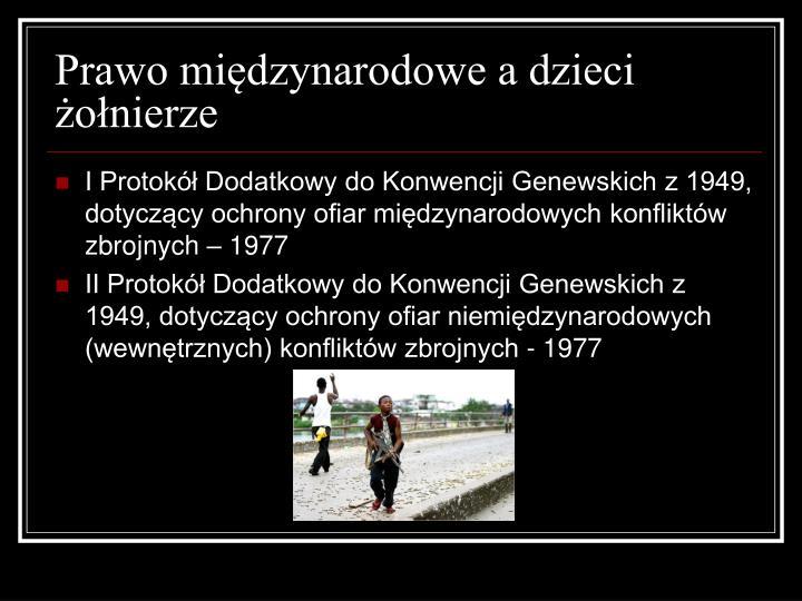 Prawo międzynarodowe a dzieci żołnierze