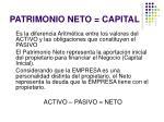 patrimonio neto capital