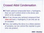 crossed aldol condensation