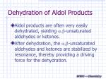 dehydration of aldol products