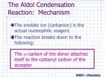 the aldol condensation reaction mechanism