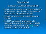 obesidad efectos cardiovasculares