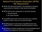 national fire protection association nfpa 70e requirements