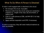 what to do when a person is shocked