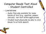 computer reads test aloud student controlled1