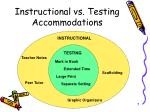 instructional vs testing accommodations