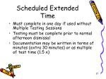 scheduled extended time2