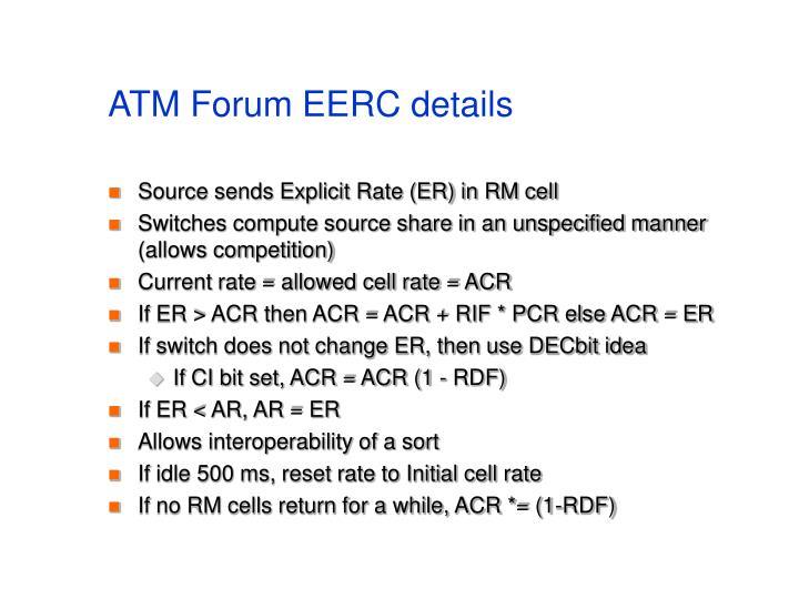 ATM Forum EERC details