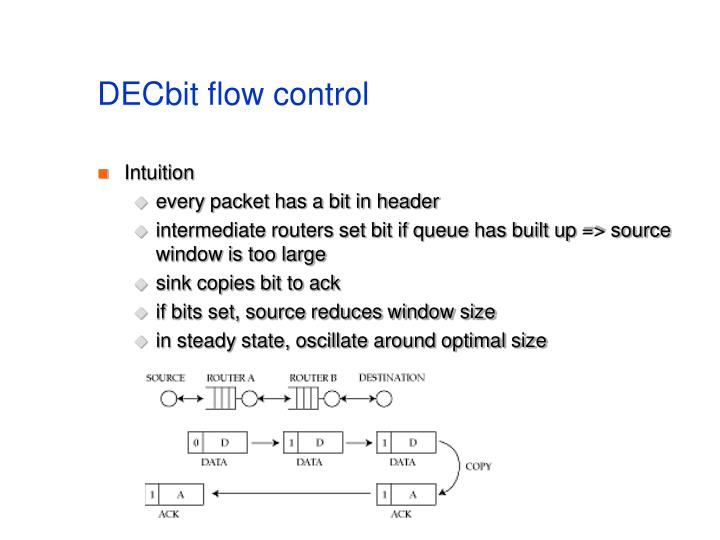 DECbit flow control