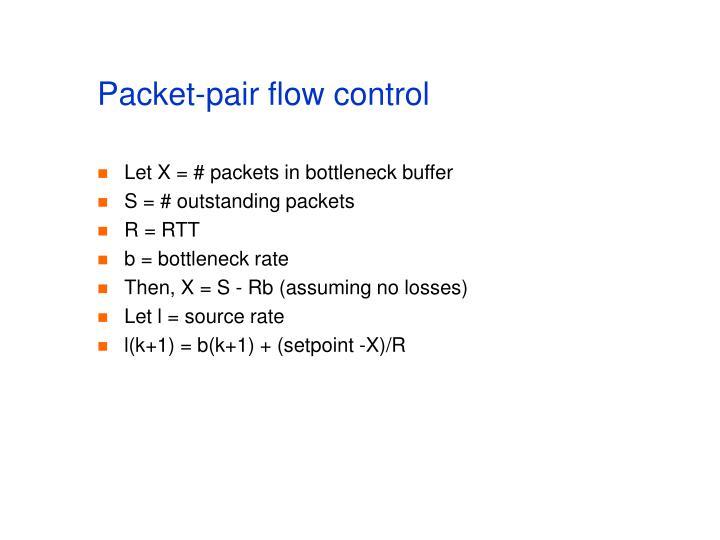 Packet-pair flow control