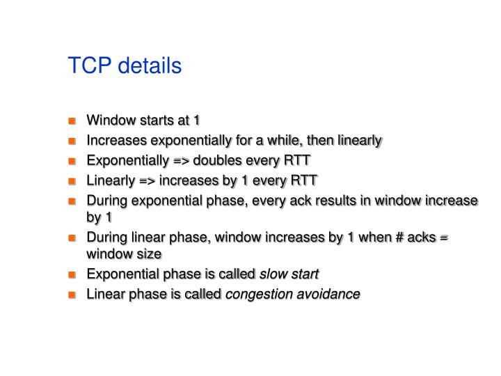 TCP details