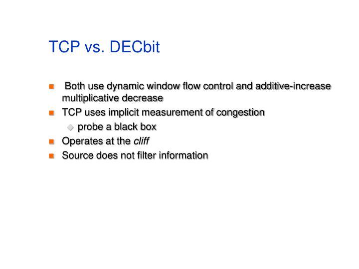 TCP vs. DECbit