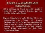 el islam y su expansi n en el mediterr neo