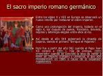 el sacro imperio romano germ nico