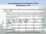 les cons quences de la directive et de la jurisprudence 3 3