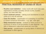 practical measures of causes of delay