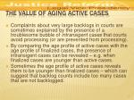 the value of aging active cases