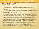 what is delay