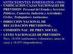 antecedentes inmediatos 1969