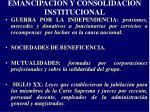 emancipaci n y consolidaci n institucional