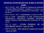 sistema integrado de jubilaciones sijp