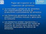 papel del inspector en la inspecci n de alimentos