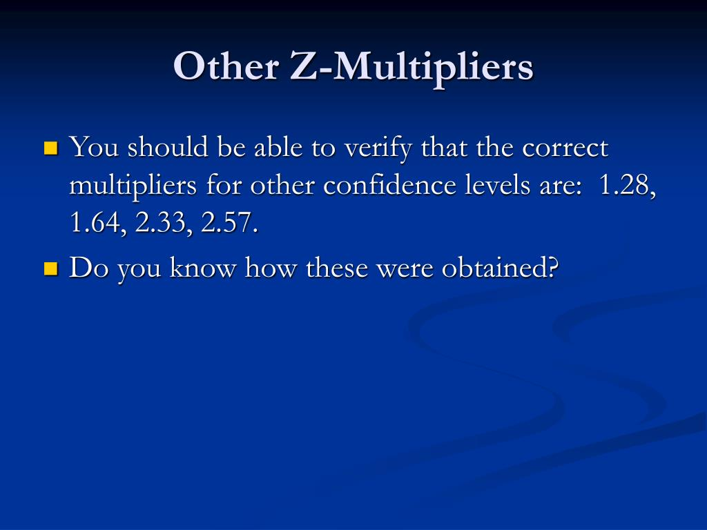 Other Z-Multipliers