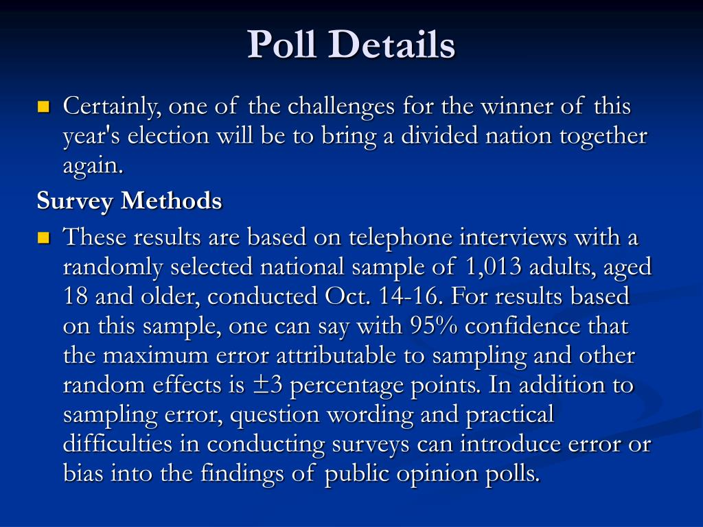 Poll Details