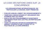 le code des nations unies sur la concurrence12