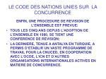 le code des nations unies sur la concurrence13