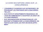 le code des nations unies sur la concurrence8