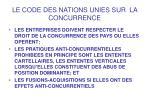 le code des nations unies sur la concurrence9