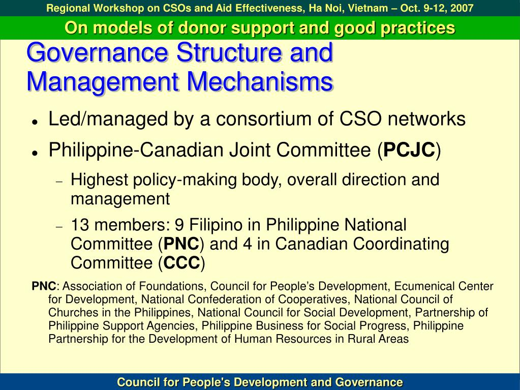 Governance Structure and