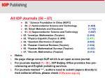 all iop journals 58 67