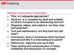 referees assessment presentation