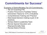 commitments for success