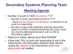 secondary systems planning team meeting agenda