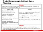 trade management indirect sales planning