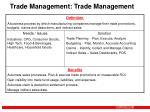 trade management trade management