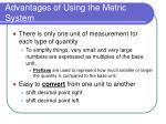 advantages of using the metric system2