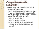 competitive awards subgrants1