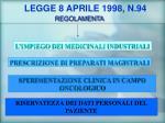 legge 8 aprile 1998 n 94