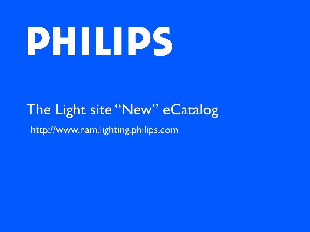 """The Light site """"New"""" eCatalog"""