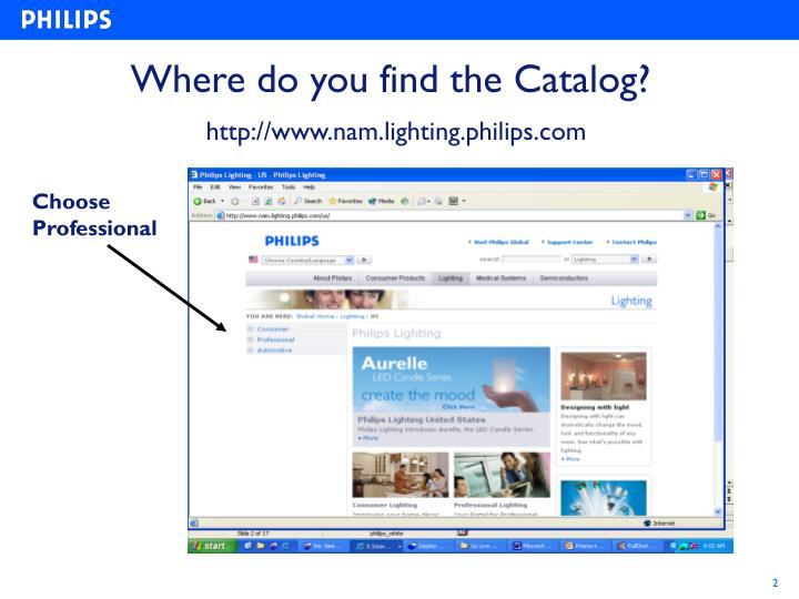 Where do you find the catalog