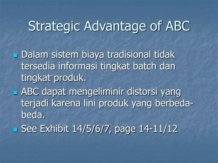 Strategic Advantage of ABC
