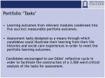 portfolio tasks