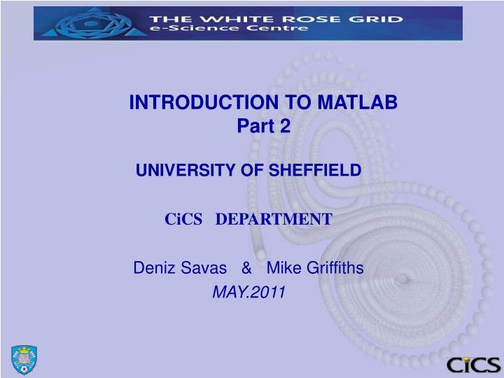introduction to matlab part 2 n.