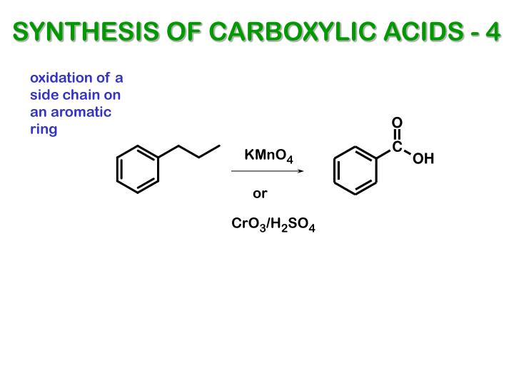 SYNTHESIS OF CARBOXYLIC ACIDS - 4