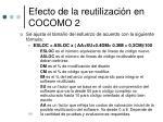 efecto de la reutilizaci n en cocomo 2